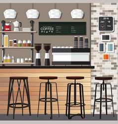 new coffee shop vector image vector image