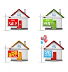real estate icons set 3 vector image vector image