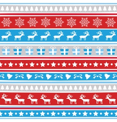 Seamless Christmas background19 vector image