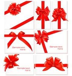 set of ribbons vector image vector image