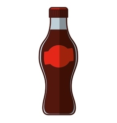 soda bottle isolated icon vector image vector image