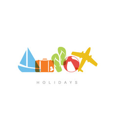 summer holiday concept vector image