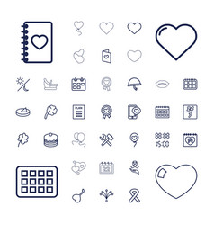 37 day icons vector