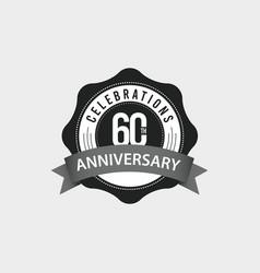 60 th anniversary celebrations template design vector
