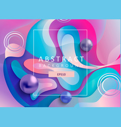 Abstract geometric gradient background with balls vector
