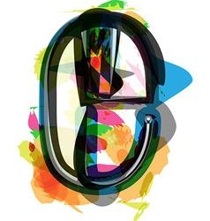 Artistic Font - Letter e vector