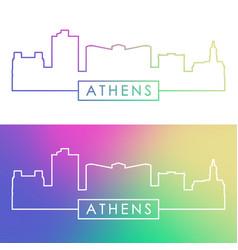 Athens georgia skyline colorful linear style vector