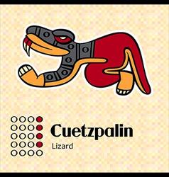 Aztec symbol Cuetzpalin vector