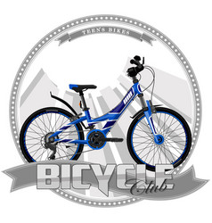 Bicycle of a certain type on symbolic background vector