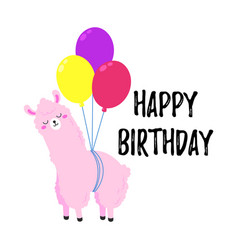 birthday cartoon greeting card design vector image