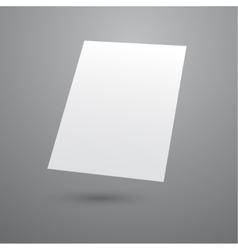 Blank empty magazine template vector