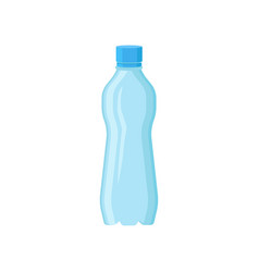 Blue plastic bottle for drinking water small vector