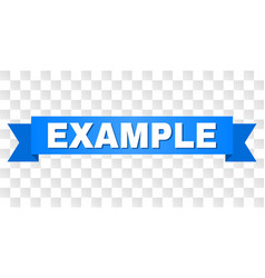 Blue ribbon with example title vector