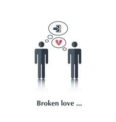 Broken love vector image