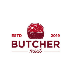 butcher logo design inspiration vector image