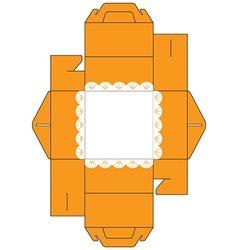 Cake Box Square vector