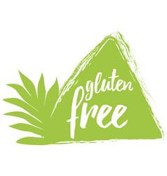 Calligraphic phrase gluten free green vector