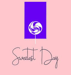 candy sweetest day logo simple style vector image