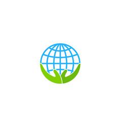 Care globe logo icon design vector