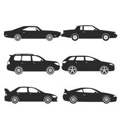 Collect icon car set vector