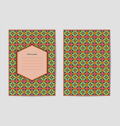 Collection of templates with patterns vector