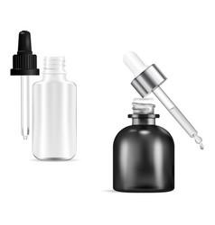 cosmetic dropper bottle serum bottles drop mockup vector image