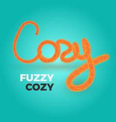 Cozy text vector