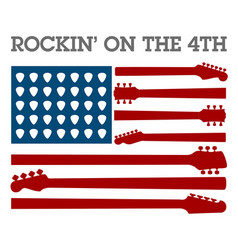 creative 4th of july rock music poster vector image