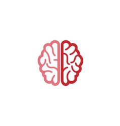 creative abstract brain logo vector image