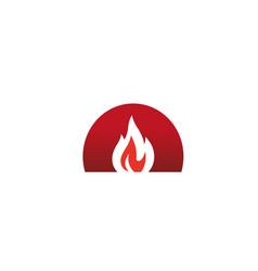 Creative circle oven fire logo design symbol vector