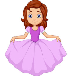 cute little princess isolated on white background vector image