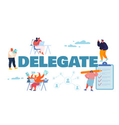 Delegate responsibilities concept office people vector