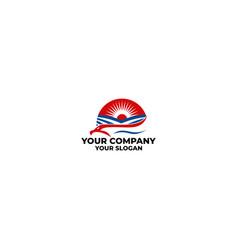 Eagle farm logo design vector