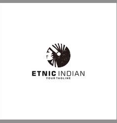 ethnic indian logo design inspiration vector image