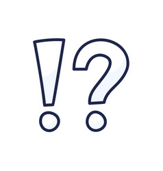 Exclamation mark and question mark sign icon vector