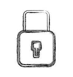 Figure security padlock key to protection vector