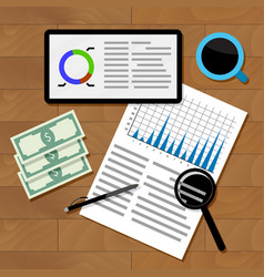 financial statistics concept vector image