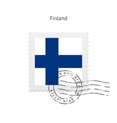 Finland flag postage stamp vector