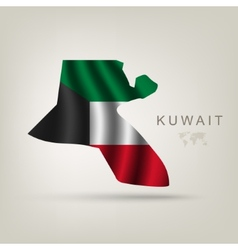 flag kuwait as a country vector image