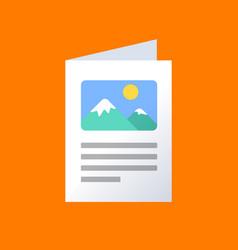 flat brochure icon color information vector image