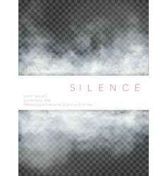 Fog and smoke with plate isolated on transparent vector
