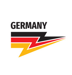 germany flag isolated on white background vector image