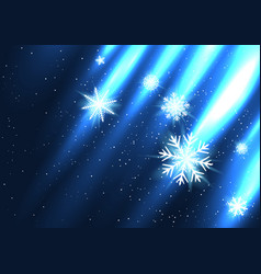 glowing snow falls from the side vector image