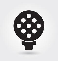 golf sport icon golf ball icon sports ball symbol vector image
