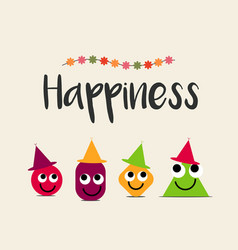 Happiness logo template design vector