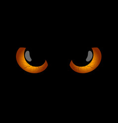 happy halloween evil scary eyes black pupils vector image