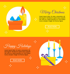 happy holidays concept flyer templates in flat vector image