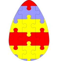 Holiday puzzle egg in color 03 vector image