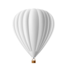 hot air balloon white mockup isolated vector image