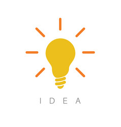 Idea - minimalist concept ilustration vector
